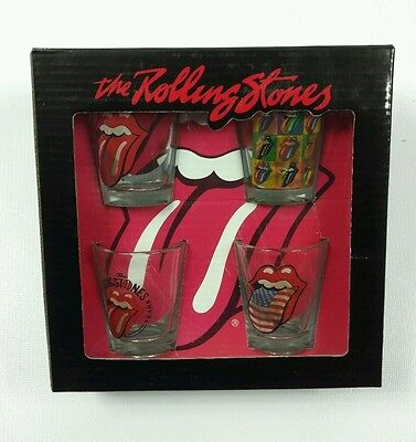 The Rolling Stones 50 Years Shot Glass Set of 4 New in Box Bravado brand