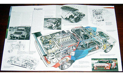 BMW M1 Fold-out Poster + Cutaway drawing