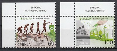 Serbia  2016 EUROPA CEPT THINK GREEN Set 2 stamps. MNH