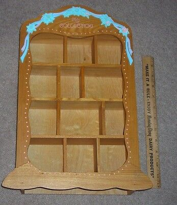 """1998 Precious Moments  Wood Display Case Enesco Holds 12 Figurines 16"""" high"""