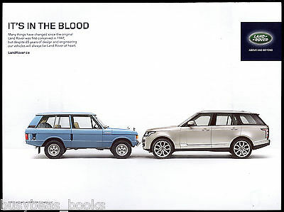 2013 LAND ROVER advertisement, with 1970s Range Rover, Canadian advert