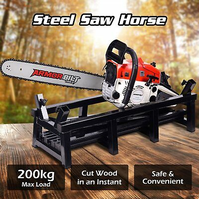 NEW Saw Horse Trestle Wood Log Support Chainsaw CHAIN FIRE Holder CUTTING TABLE
