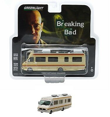 Greenlight 1:64 Diecast Breaking Bad 1986 Fleetwood Bounder Rv Crystal Ship 5.5""