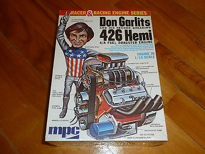 Don Garlits Big Daddy Dragster 1971 Figure & Engine Old Plastic Kit 1/10 Mpc F/s