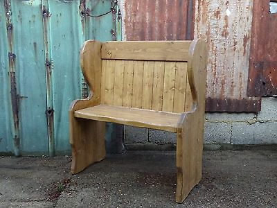Vintage Style Church Pew Bench Settle Made From Reclaimed Solid Pine