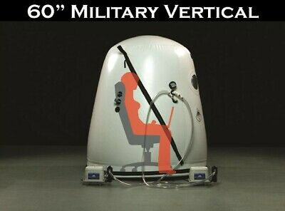 """Vertical Hyperbaric Oxygen Chamber 60"""" Better Style O2 Therapy Military Savings"""