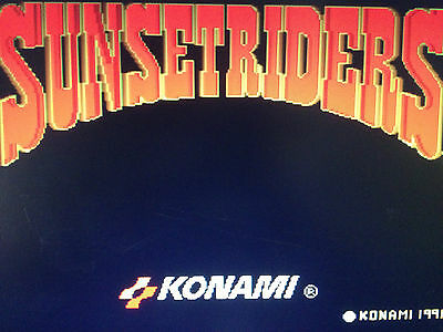 Sunset Riders By Konami Arcade Pcb Jamma Original