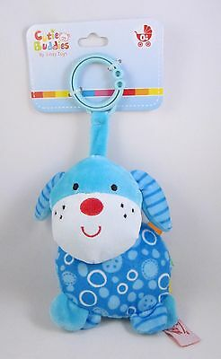 Baby Rattle Stroller Toy with Taggies Car Carrier / Activity Gym BLUE PUPPY