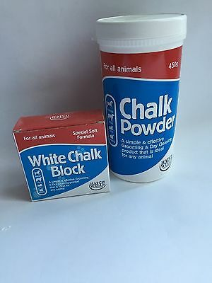 Chalk Powder or Block for Dog or cat grooming, hand stripping, coat cleaning