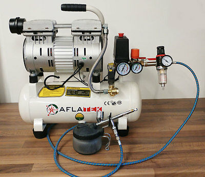 Silent 10L Oil Free Airbrush Compressor With Air Filter Regulator