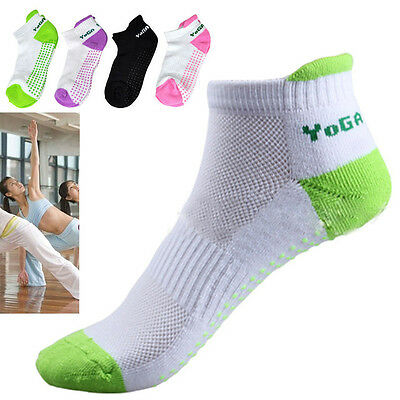 Non Slip Yoga Aerobic Pilates Socks/ Massage Grip Sport Gym Exercise Socks