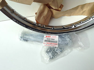 Genuine Suzuki GT125/185 Front wheel rim and Spoke set. 55311-18420
