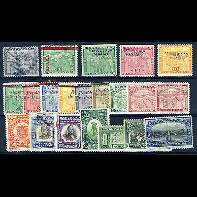 PANAMA Selection. 20 Values. Unchecked. Condition Varies. (CA26N)