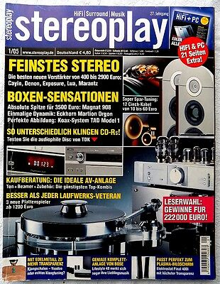 STEREOPLAY 1/2005 Januar 2005 Hifi Zeitschrift 01/05 01 2005 stereoplay