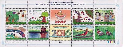 Pakistan Stamps 2016 Child Art Competition Children Paintings MNH