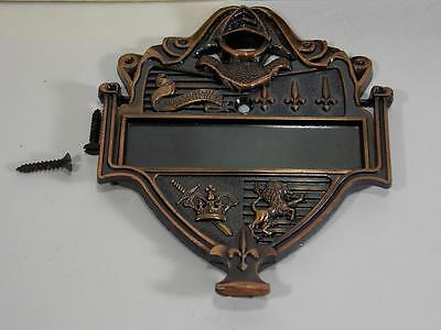 Vintage New Old Stock Door Knocker Shield Crest Made In Usa