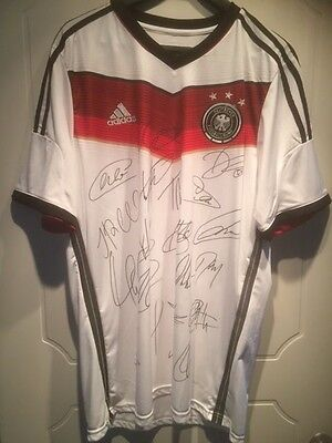Signed Team Germany World cup winners 2014 autographed jersey shirt