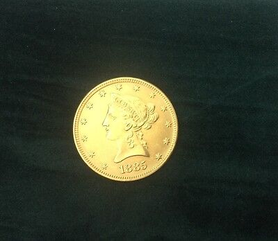 UNITED STATES $10 GOLD COIN 1885 Excelent condition SANFRANSISCO MINT.