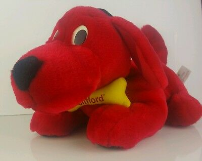 "Clifford The Big Red Dog Barking Shaking Animated 13"" Soft Toy With Sound Tested"