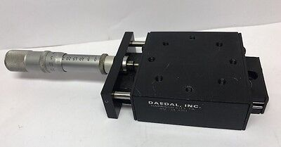 "Parker Daedal 2.62"" X 2.62"" M4501 Micrometer Slide Positioning Stage 1"" Travel"