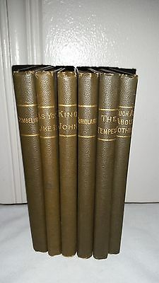 Antique Lot of Six - Shakespeare's Rev Henry N. Hudson Ginn & Company Boston