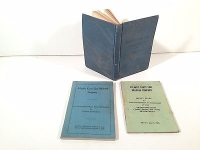 Set Of Acl Atlantic Coast Line Railroad Saftey, Rules, Schedule Of Wages Books