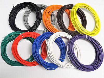 AUTOMOTIVE WIRE 18 AWG HIGH TEMP GXL STRANDED WIRE ORANGE 100 FT ON A SPOOL  USA