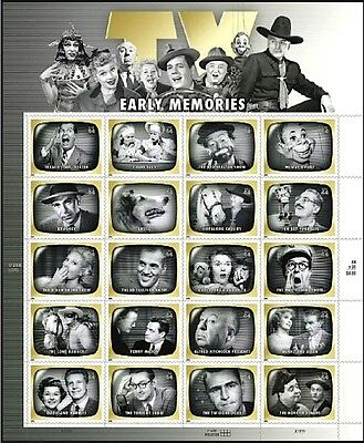 US 2009 Sc# 4414 EARLY TV MEMORIES STAMP SHEET OF 20 NEW MNH