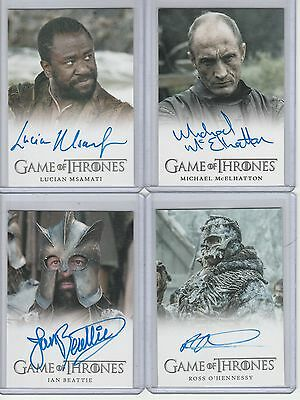 Game Of Thrones Season 5 Auto Ian Beattie Full Bleed Autograph