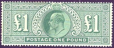 SG 266 £1 Dull Blue-Green Fine Unmounted Mint