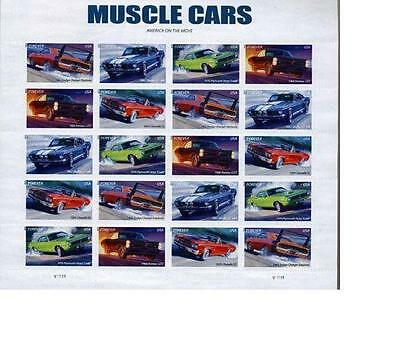 Us Scott # 4743-4747 Muscle Cars Forever Stamp Sheet X 20 New Mnh