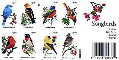 Usa #4882-4891  Songbirds Forever Stamps Booklet Of 20 Mnh