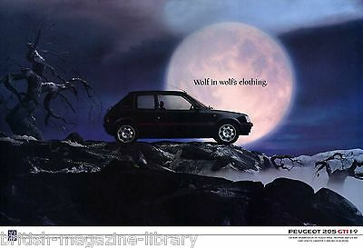 Peugeot 205 GTi 1.9 - Wolf in Wolfs Clothing - Enlarged Poster Print 45cm x 32cm