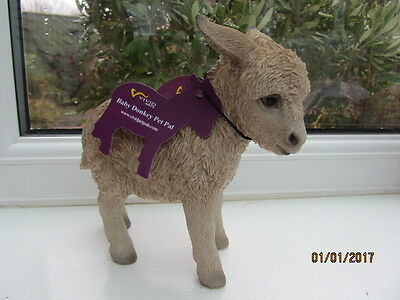 """1 x VIVID ARTS BEIGE BABY DONKEY - Approx. height 6"""" x  Length 5 1/2""""."""