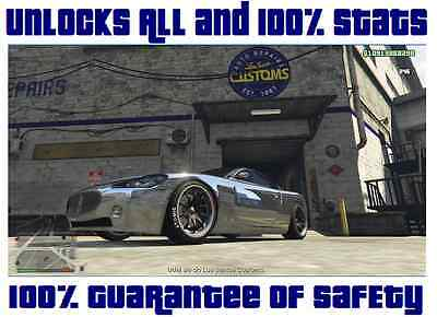 Time and work to Unlocks All and 100% Stats in GTA V 5 Online PC cash money