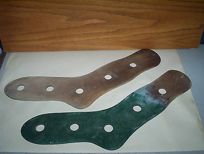 Vintage Pair of Wooden Sock Stretchers or Stockings Forms : Socks Dryers 22 3/4""