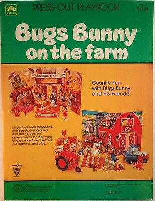 BUGS BUNNY ON THE FARM. PRESS-OUT PLAYBOOK [Paper Dolls, Uncut]