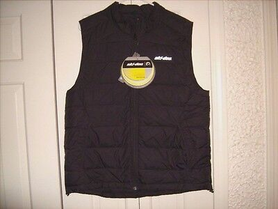 Ski-Doo Mens Packable Down Vest Size Medium Black NEW with TAGS
