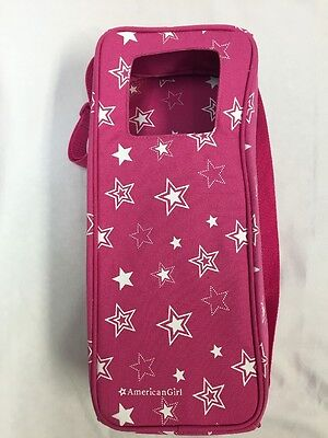 RETIRED American Girl PINK STARRY DOLL CARRIER Travel Bag Case Storage Tote Star