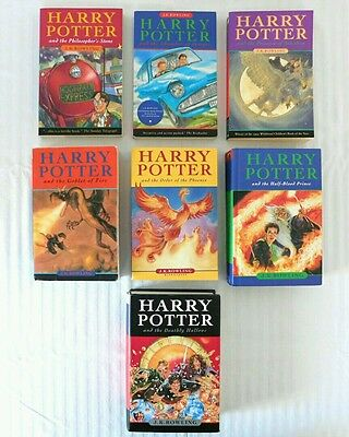 Harry Potter Books First Canadian Edition Complete Set 1-7 PAPERBACK HARDCOVER