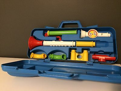 Vintage 1983 Fisher Price Crazy Combo Horn #604 Instrument Recorder 80s Toy