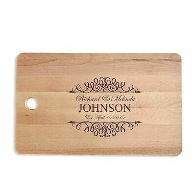 Personalised Engraved Chopping Cutting Board Wedding Birthday Anniversary Gift