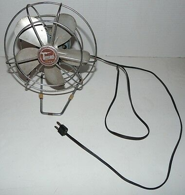 Vintage Torcan Electric Fan Model 856F No. 8647 Rotor Electric Co. Canada 115V