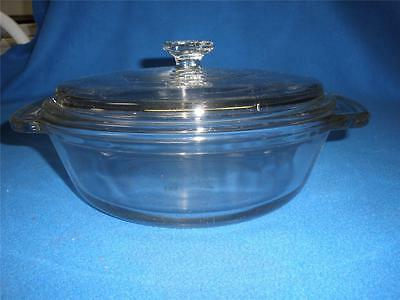 Fabulous Anchor Ovenware Usa  Casserole Dish Clear With Lid
