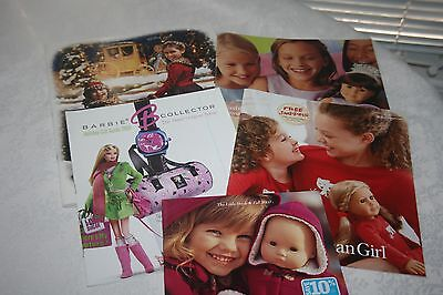 Lot of Four 4 American Girl Doll Catalogs + One Barbie 2003 2005 2015