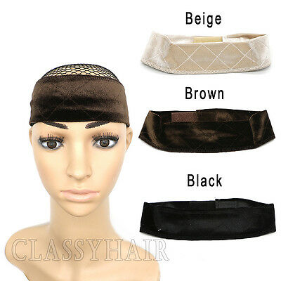 Velvet Wig Grip Adjustable Fastern Head Hair Band WiGrip Fit All Heads