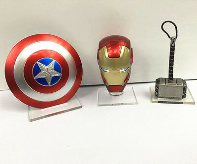 Marvel Avengers Captain America Thor Iron Man weapon Action Figure 3p in set