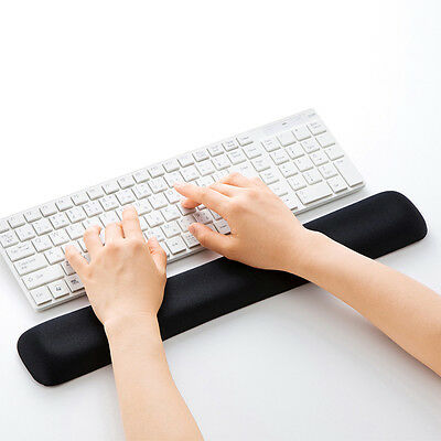 Anti-Skid Leather Keyboard Wrist Support Rest Comfort Pad For 104 Keys Keyboard