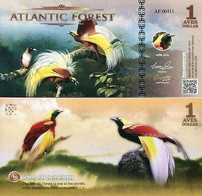 ATLANTIC FOREST - 1 aves dollar 2016 FDS UNC