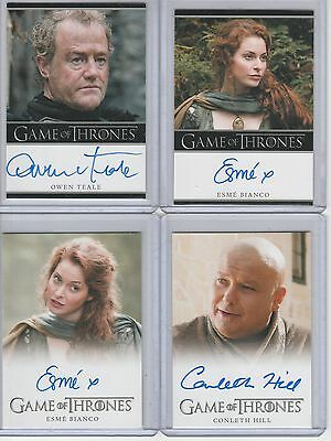 Game Of Thrones Season 1 Auto Conleth Hill Full Bleed Autograph